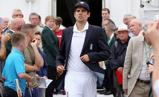 Alastair Cook of England during an Ashes Test