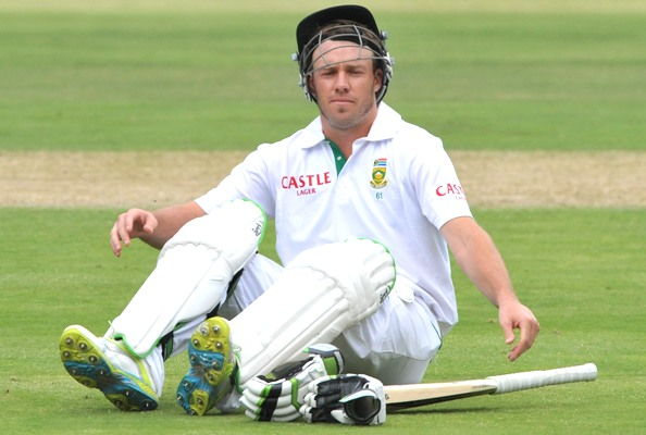 AB de Villiers of South Africa takes a breather