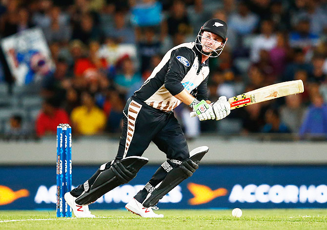 New Zealand's Colin Munro bats
