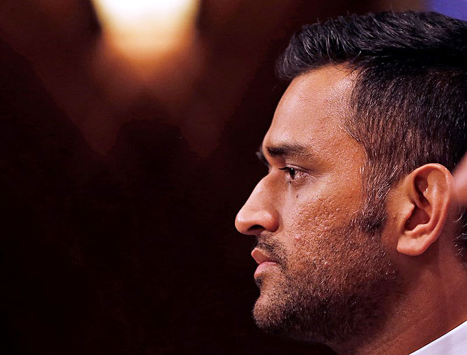 India's One-Day captain Mahendra Singh Dhoni attends a news conference