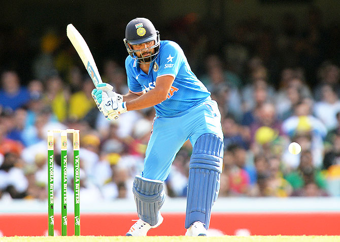 India's Rohit Sharma bats