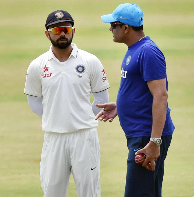 'The team is on the right track with Anil Kumble as the coach'