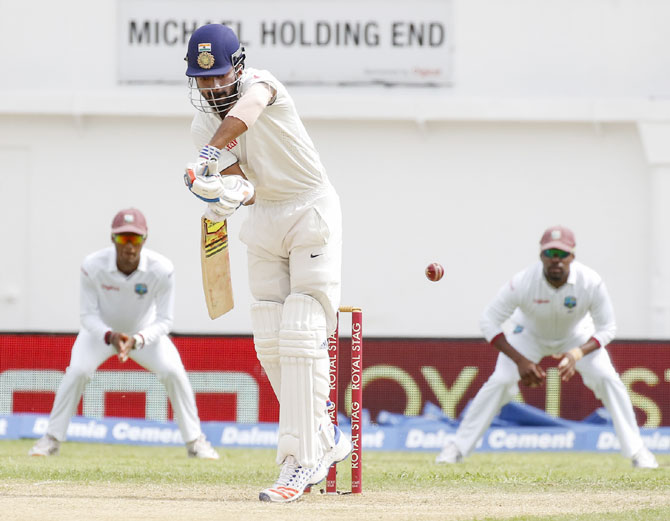 KL Rahul in action on Day 1 of the 2nd Test
