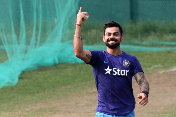 India's Virat Kohli during a practice session