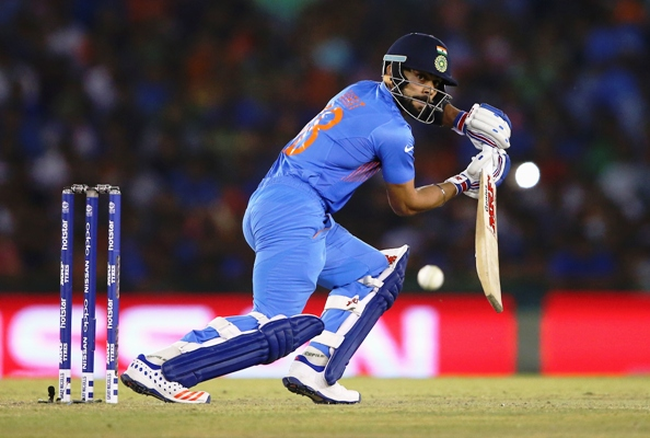 Virat Kohli of India bats during the 2016 ICC WT20 Group 2 match against Australia in Mohali
