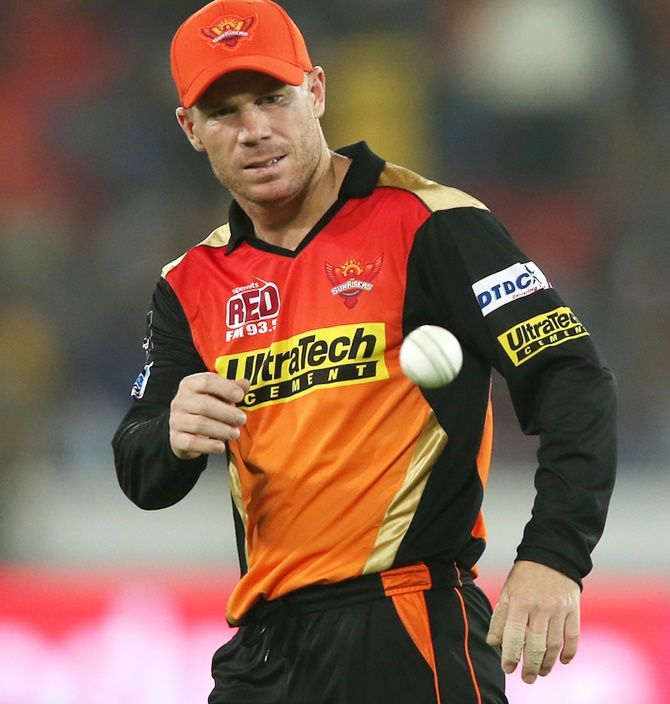 David Warner plays for Sunrisers Hyderabad in the Indian Premier League
