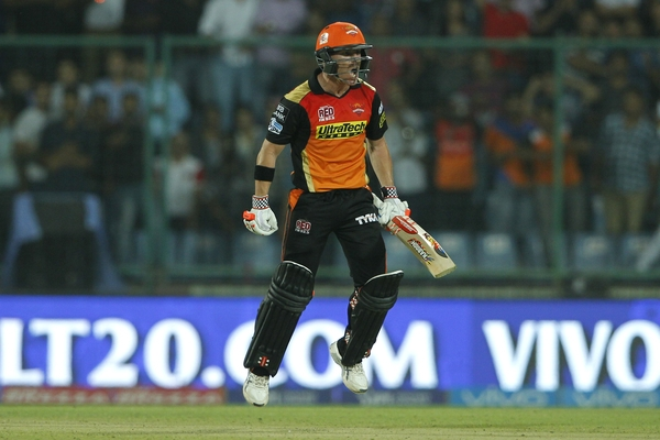 David Warner's majestic unbeaten 93 took the  Sunrisers Hyderabad to its maiden IPL final