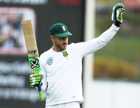 South Africa captain Faf Du Plessis