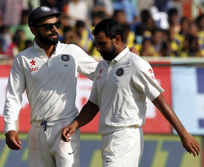 Kohli hints Shami may be included for last Test