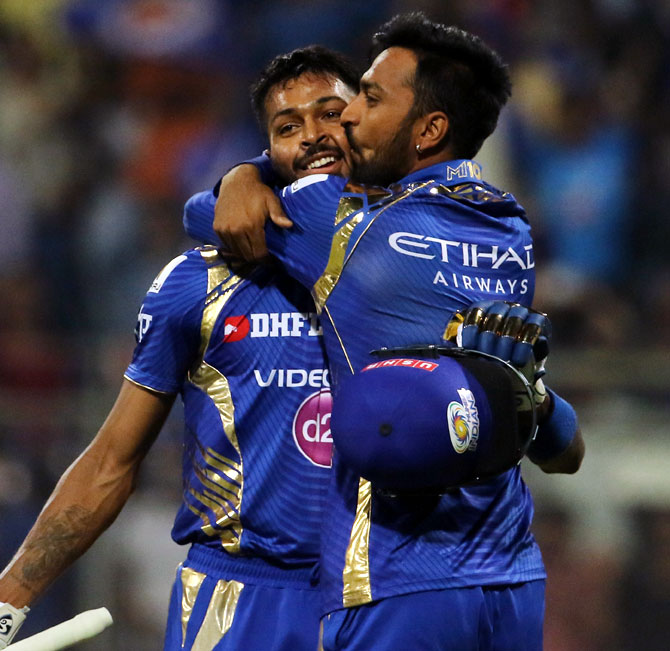 IPL PHOTOS: Pandya brothers shine as Mumbai pull off thrilling win