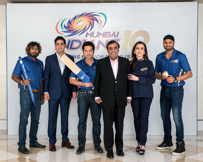 Ambanis celebrate 10 years of Mumbai Indians