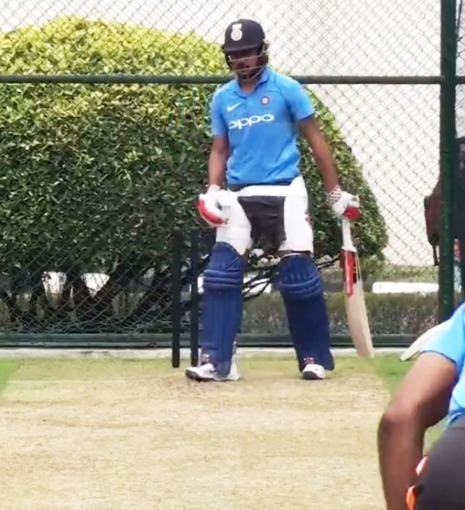 Manish Pandey during a training session on Wednesday