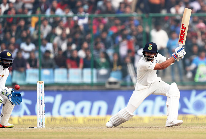 Virat Kohli bats en route his double ton