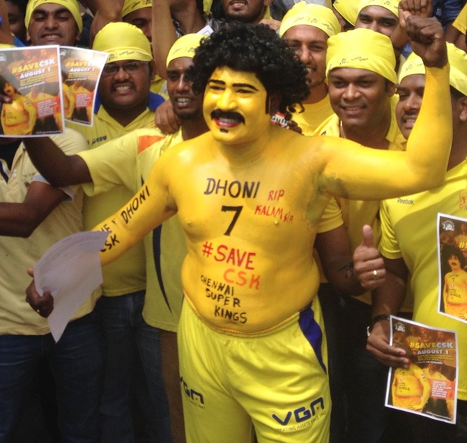 These fans can't wait to cheer for their 'Men in yellow'! - Rediff ...