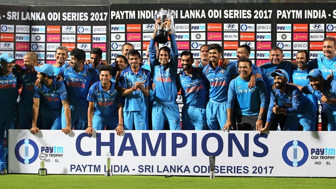 With the win on Sunday, India won their sixth ODI series of the year and eighth in a row since July 2016