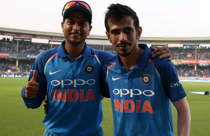 Virat has belief in us, says India's chinaman bowler Kuldeep Yadav (left)