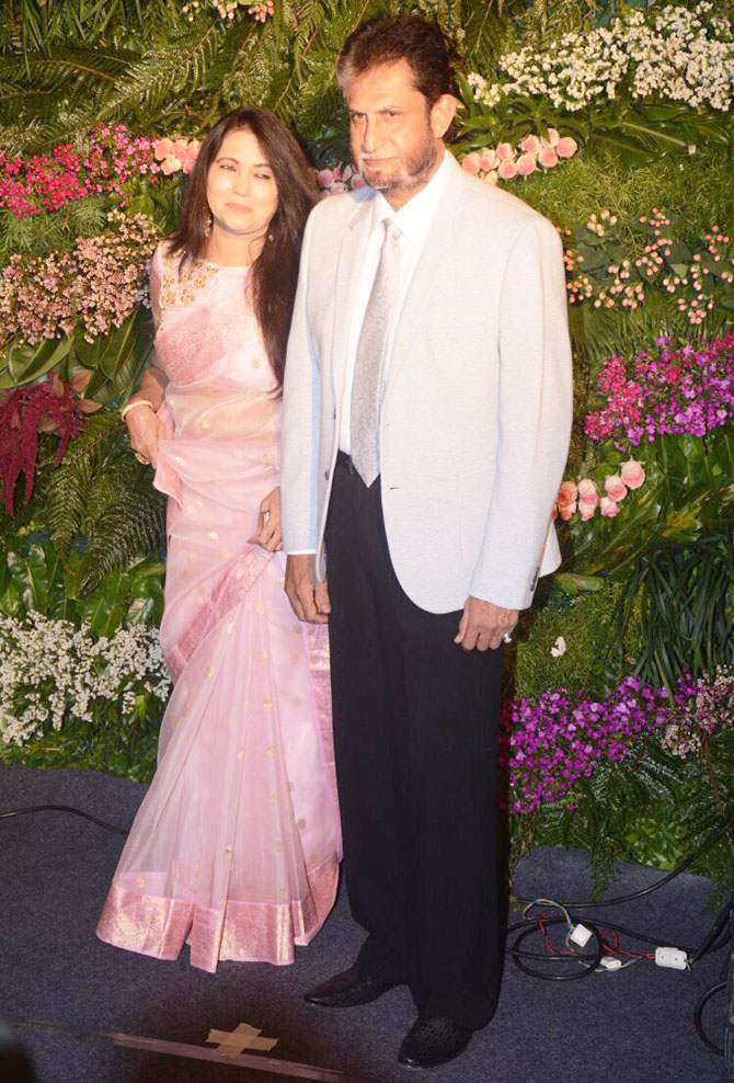 Sandeep Patil and wife Meera