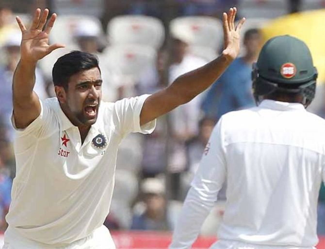 Ravichandran Ashwin snaps Dennis Lillee's record by becoming the quickest bowler to claim 250 wickets in Test cricket during the just concluded one-off Test against Bangladesh