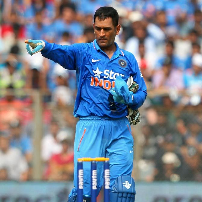 M S Dhoni. Photograph: Anthony Au-Yeung/Getty Images/Getty Images