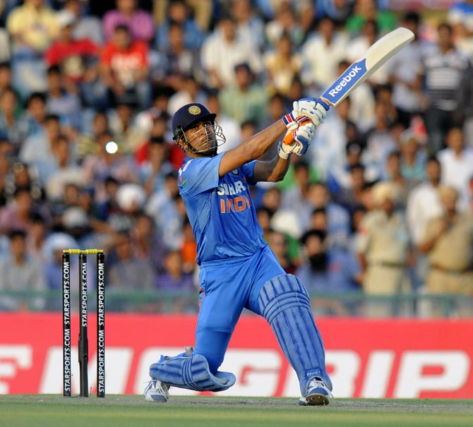 Mahendra Singh Dhoni, one of the big hitters in modern cricket. Photograph: BCCI