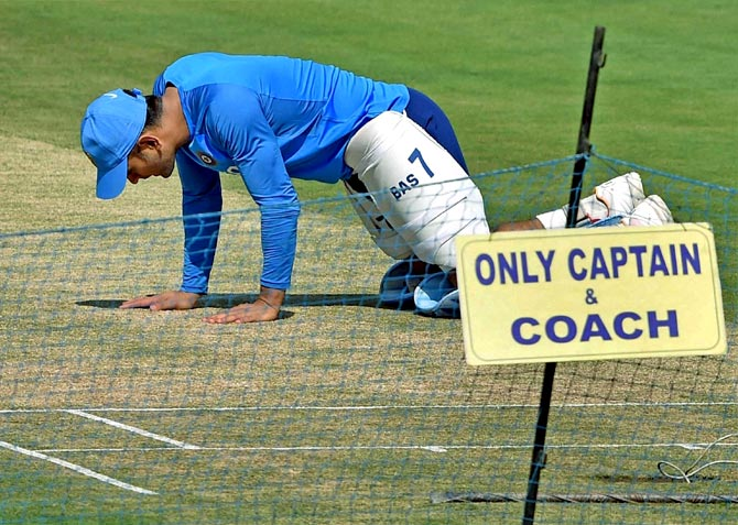 Is Dhoni influencing the pitch for 3rd Test in Ranchi?