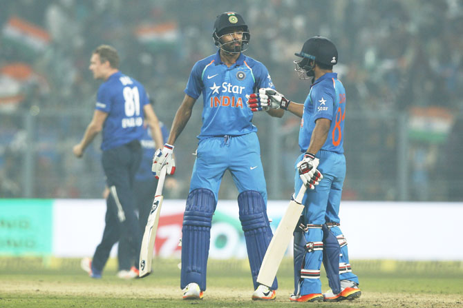 India's Hardik Pandya  and Kedar Jadhav played solid knocks to take India close to the finish line