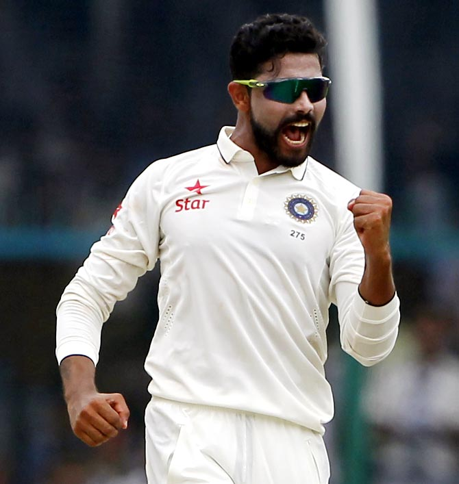 Saurashtra's Ravindra Jadeja picked 9 wickets to help his team to an innings and 212-run victory over Jammu and Kashmir in their Group B Ranji Trophy match on Monday