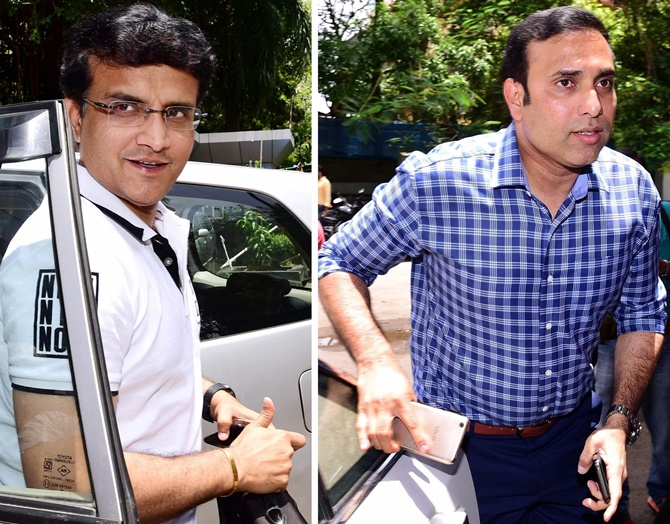While VVS Laxman (right) is a mentor for Sunrisers Hyderabad, Sourav Ganguly holds the same position with the Delhi Daredevils franchise besides being the President of the Cricket Association of Bengal