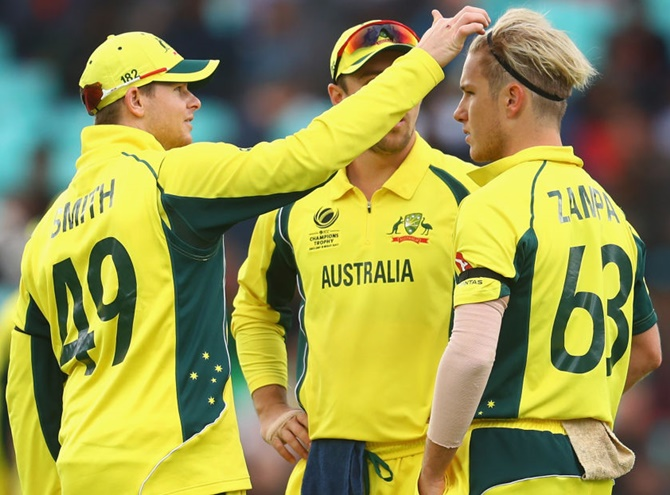 Steve Smith with Adam Zampa