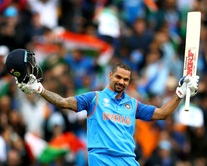 Rediff Sports - Cricket, Indian hockey, Tennis, Football, Chess, Golf - Shikhar Dhawan: The 'Champion' performer