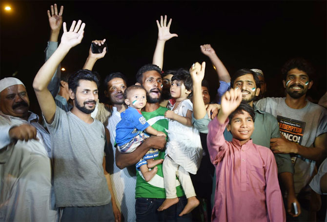 Pakistan fans are ecstatic on the arrival of the Pakistan cricket team in Karachi on Tuesday