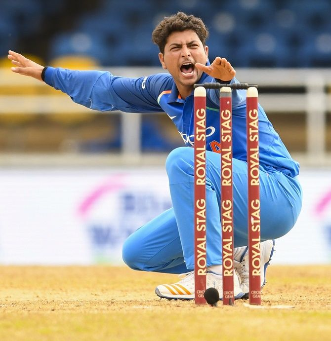 Smith is aware of India's good spin options with Kuldeep Yadav (in the pic) and Yuzvendra Chahal