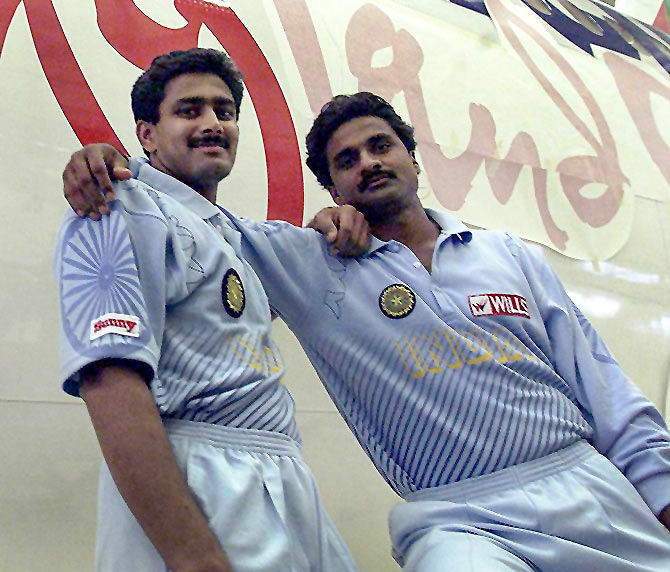 Anil Kumble and Javagal Srinath