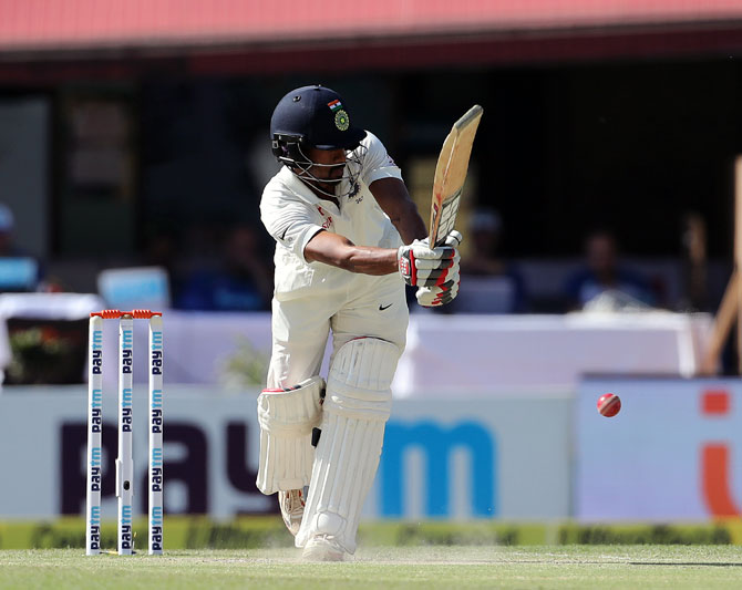 Wriddhiman Saha made 61 not out against West Indies A on Thursday