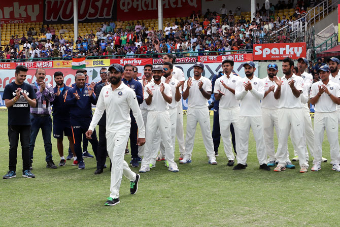 India recorded a highest tally of wins in a season