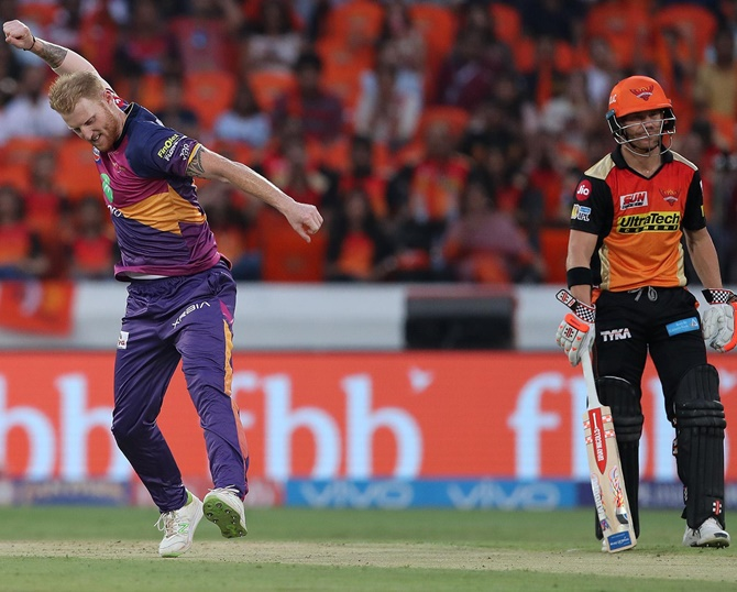 Turning point: SRH's skipper Warner's dismissal against RPS