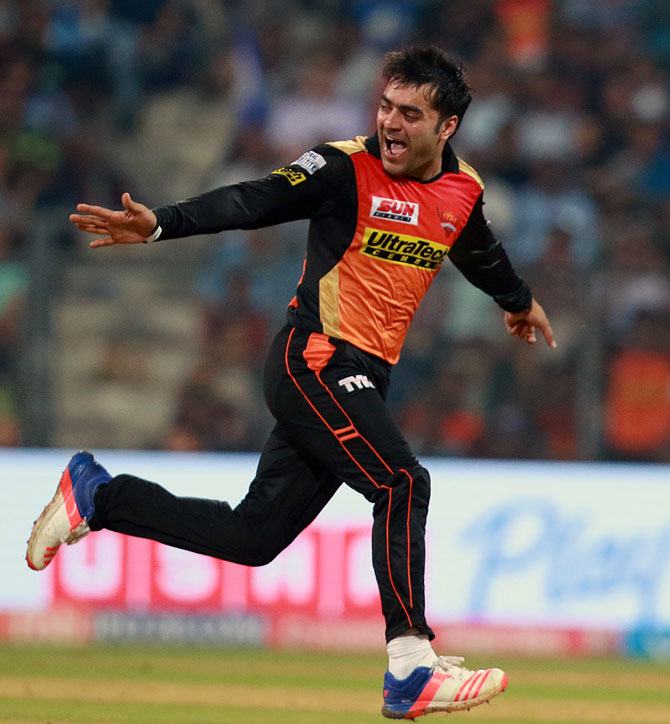 Afghanistan's leg spinner Rashid Khan is spinning a web around clueless batsmen in the Indian Premier League for Sunrisers Hyderabad