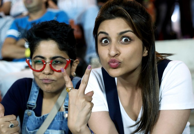 SPOTTED! Parineeti Chopra at IPL 10