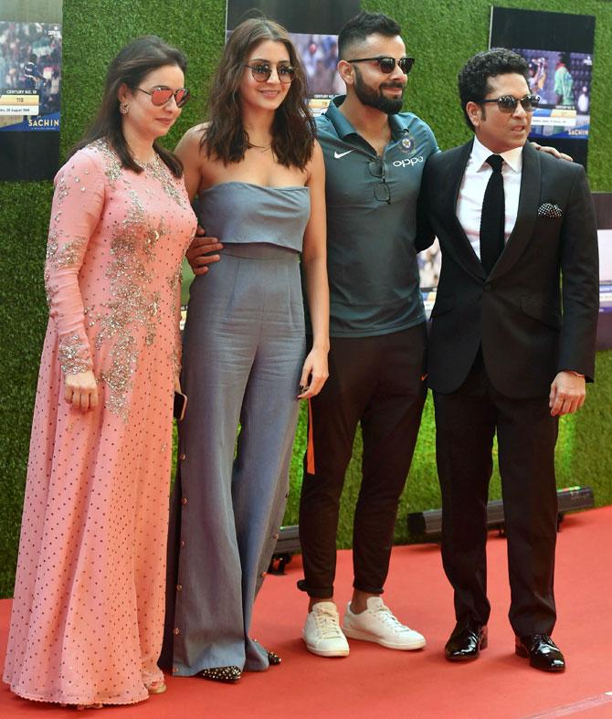 PHOTOS: Team India, Virat-Anushka, Big B, SRK grace Sachin Tendulkar movie premiere