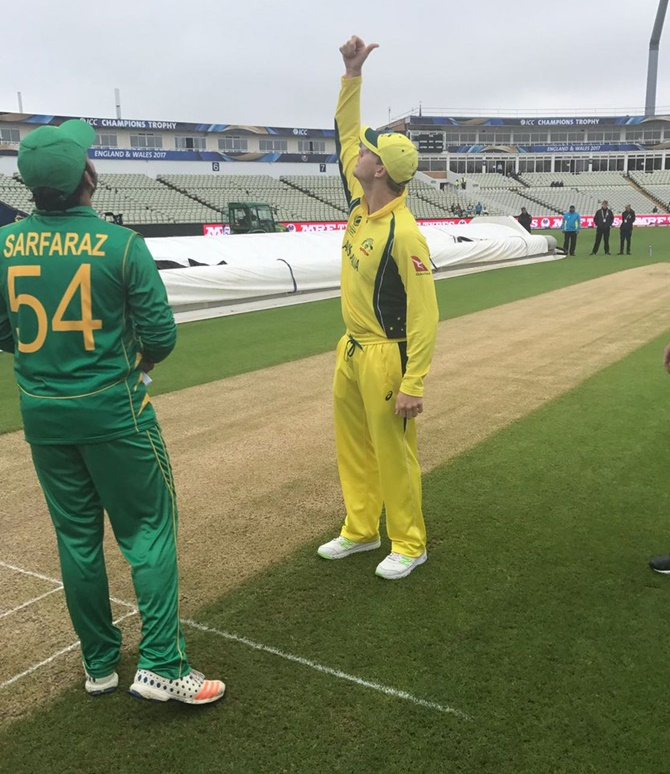 Champions Trophy: Rain mars Australia-Pakistan warm-up