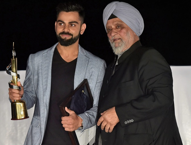 f1ccce30d3 IMAGE  Legendary cricketer Bishan Singh Bedi felicitates Indian captain Virat  Kohli. Photograph  Manvender Vashist PTI.