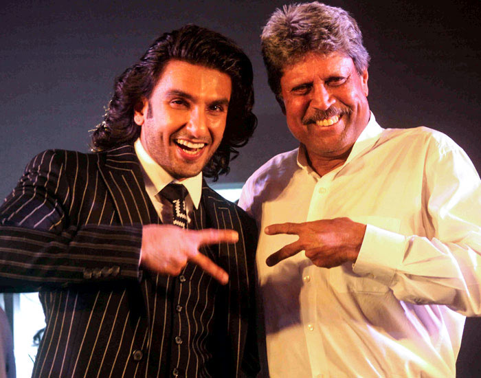 Ranveer Singh is set to play the role cricket legend Kapil Dev in a movie set on the 1983 World Cup win