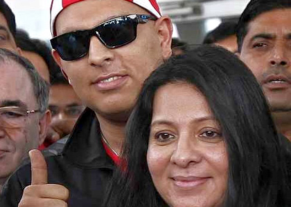 Yuvraj Singh and his mother Shabnam Singh