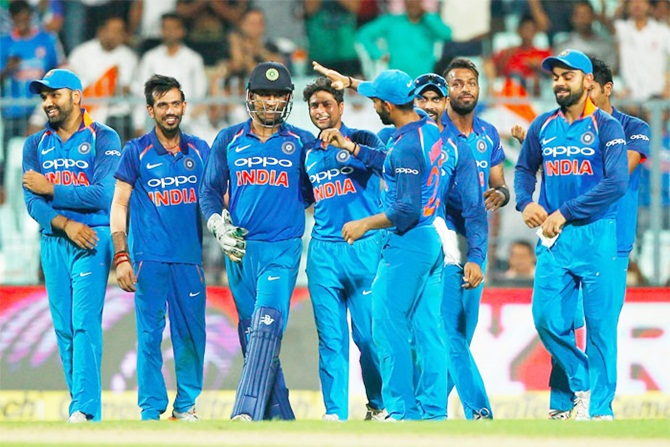 India's players celebrate