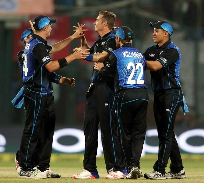 New Zealand players celebrate