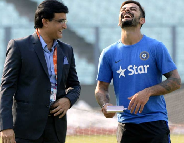 Ganguly speaks about Virat Kohli