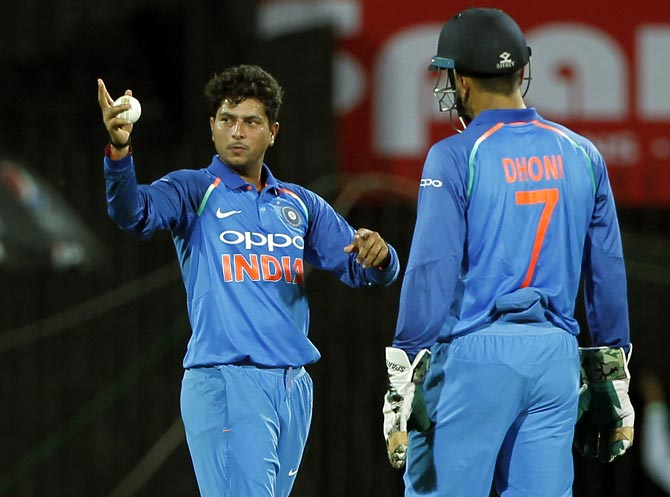 Kuldeep recalls the moment Dhoni lost his cool
