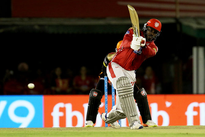 IPL PHOTOS: Gayle ton helps KXIP hand Hyderabad first loss this season