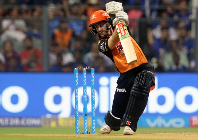 Kane Williamson bats during his innings against Mumbai Indians