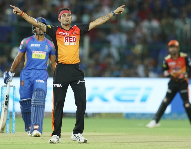 PHOTOS: Bowlers on target as Sunrisers beat Royals